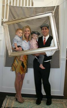 Funny wedding photo booth with picture frame2