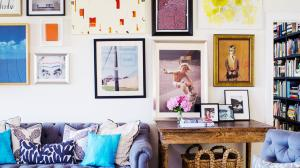 Poster decoration idea - a fancy art wall style for your home