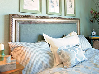 Decorating-your-headboard-with-old-frame