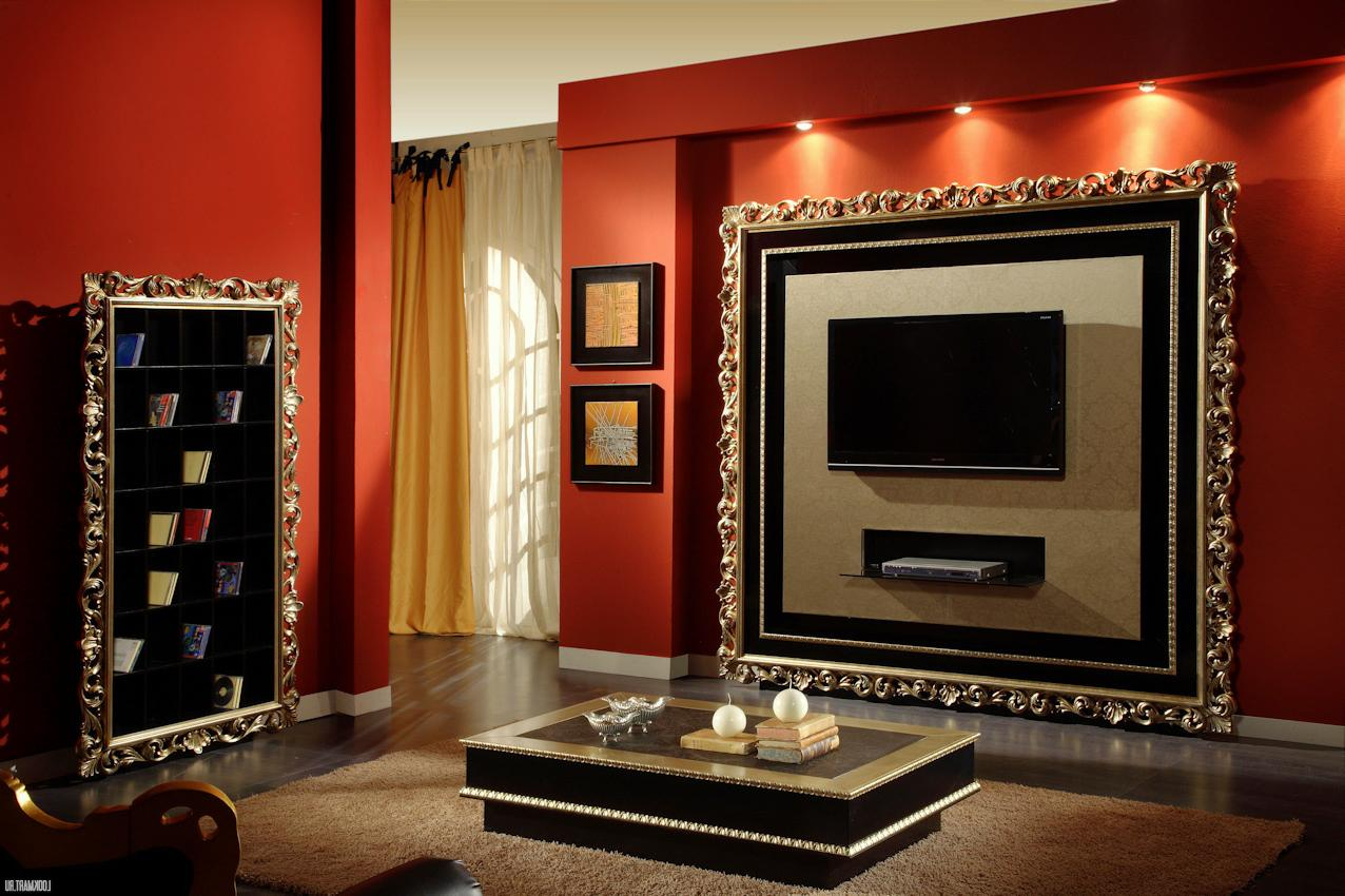 tv frame idea. Black Bedroom Furniture Sets. Home Design Ideas